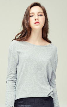 Long Sleeve Slub Top